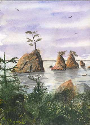 Oregon Series: Three Graces, Tillamook Bay